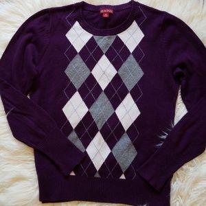 Marina Argyle Sweater